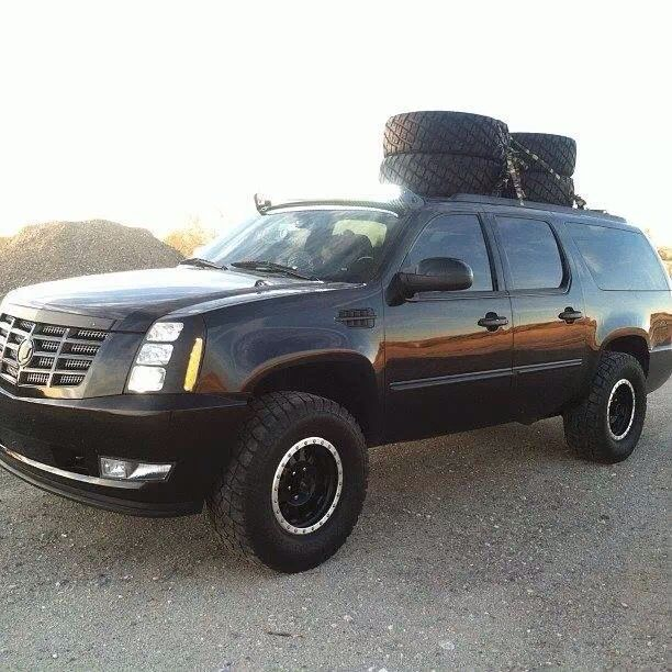Lifted Escalade On 35s And Method Race Wheels Owned By Tough Light Com Method Race Wheels Adventure Trailers New Suv
