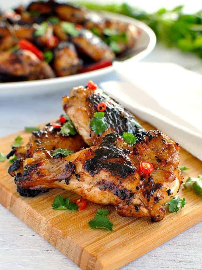 Vietnamese Chicken Wings Classic simple Vietnamese marinade infused with lemongrass, then grilled to perfection!