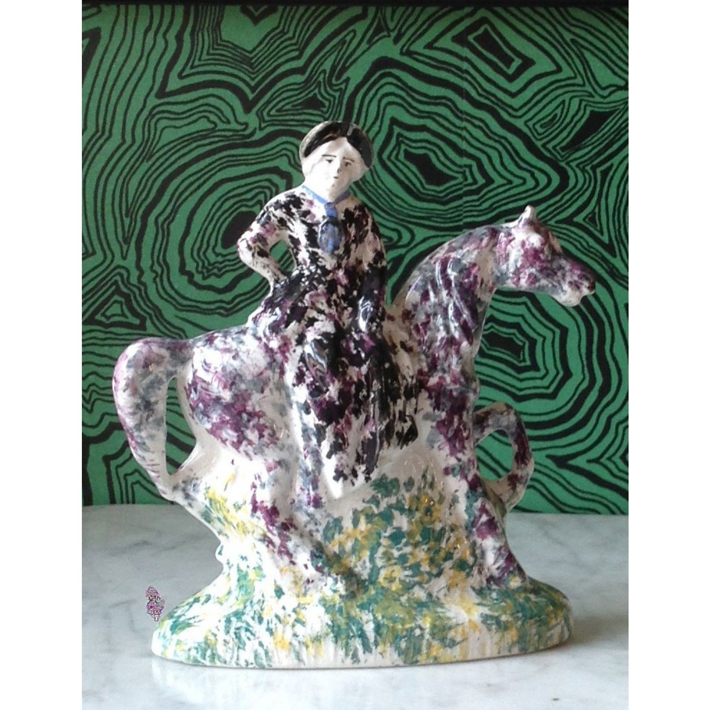Rare Staffordshire Spatterware Lady on Horseback from Pentreath & Hall - http://www.pentreath-hall.com/accessories/antiques-accessories/rare-staffordshire-spatterware-lady-on-horseback.html