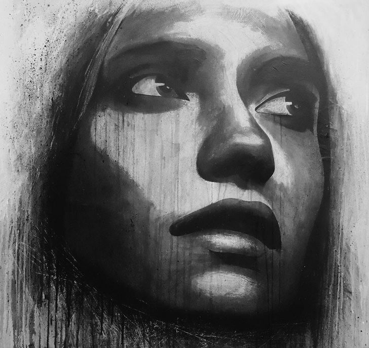 Black And White Portrait Art