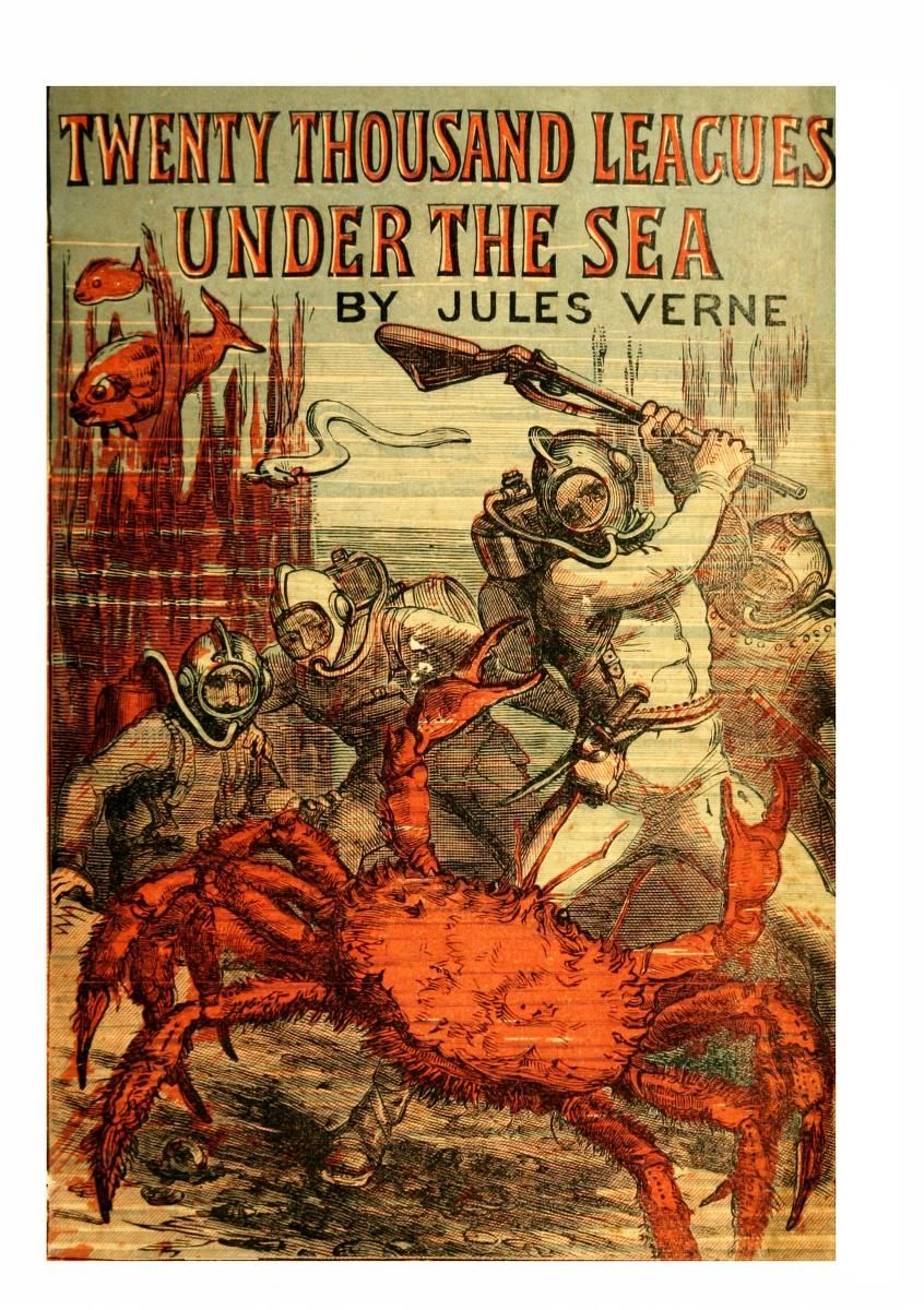 Frontispiece From Twenty Thousand Leagues Under The Sea Jules Verne 1895 Leagues Under The Sea Jules Verne Under The Sea