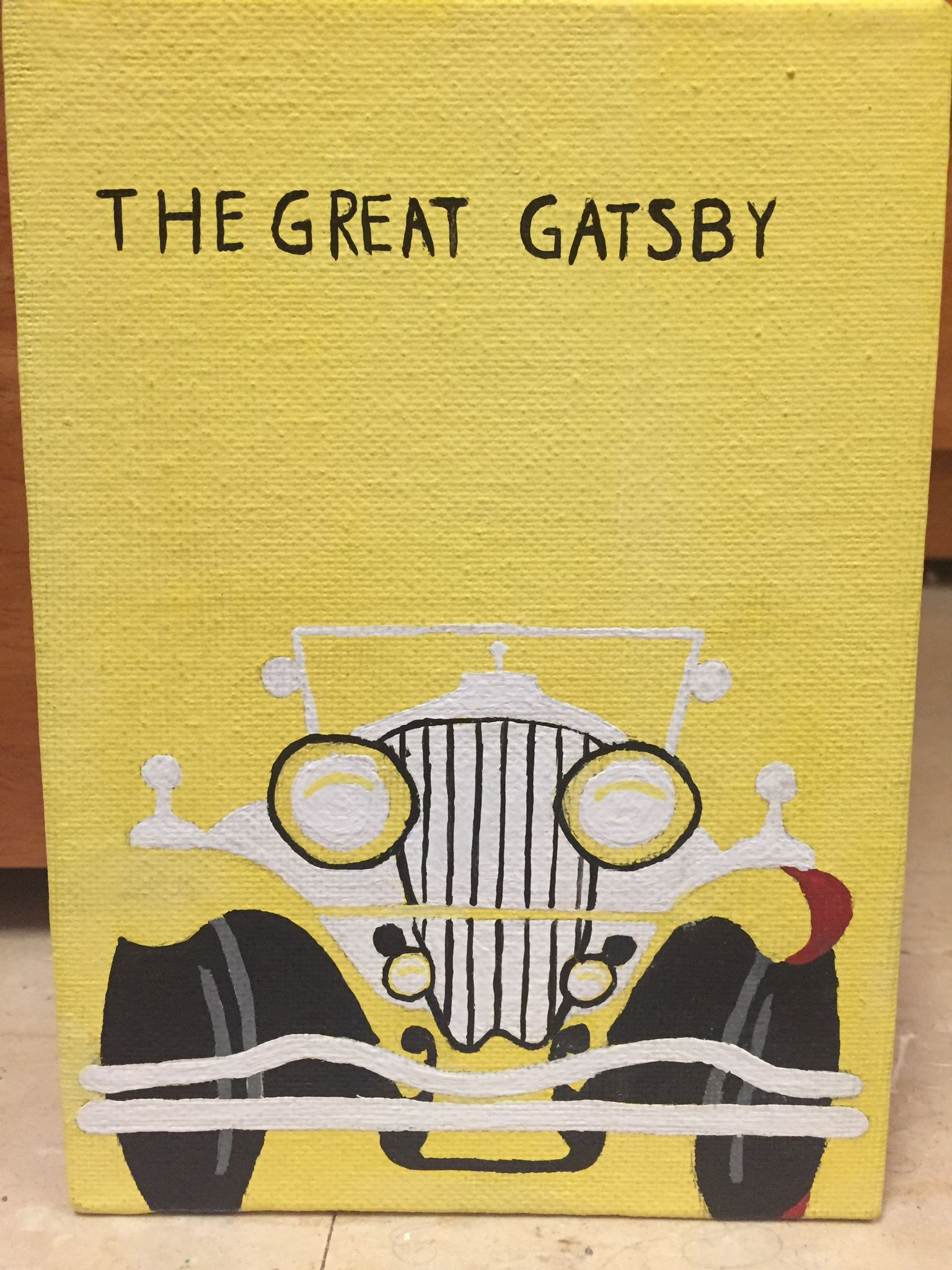 The Great Gatsby Book Cover Canvas