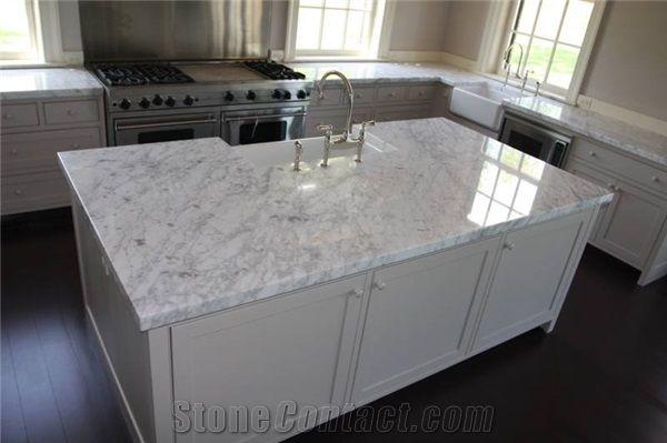 Carrara White Marble Kitchen Countertops Natural White Marble