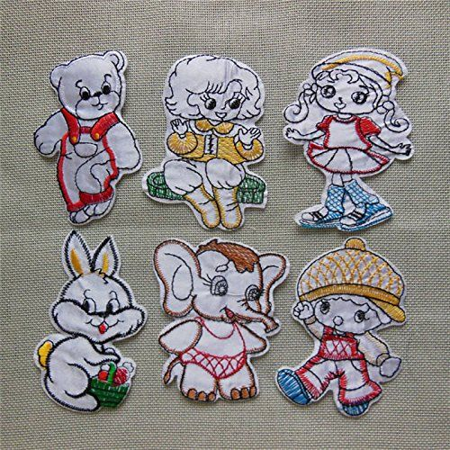 FairyTeller Combination Sale High Quality Patch Hot Melt Adhesive Applique Embroidery Patch Diy Decoration Accessory C1001-C1016 * To view further for this item, visit the image link.