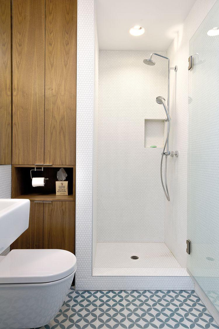Mexican cement tiles / walnut casework   R+C Home   Pinterest ...