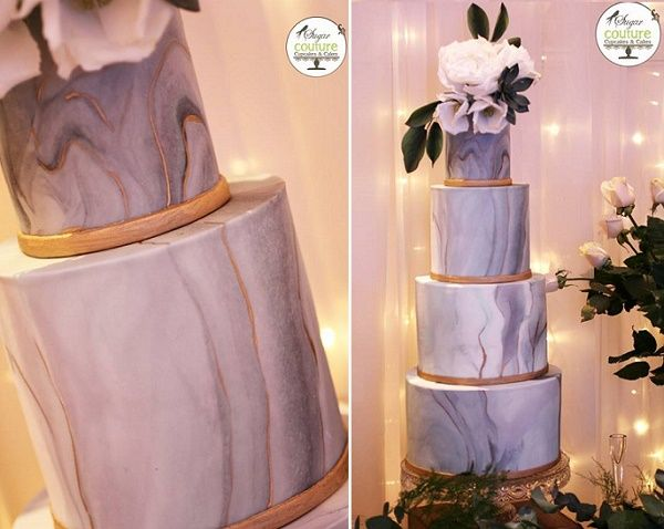Sugar couture wedding cakes