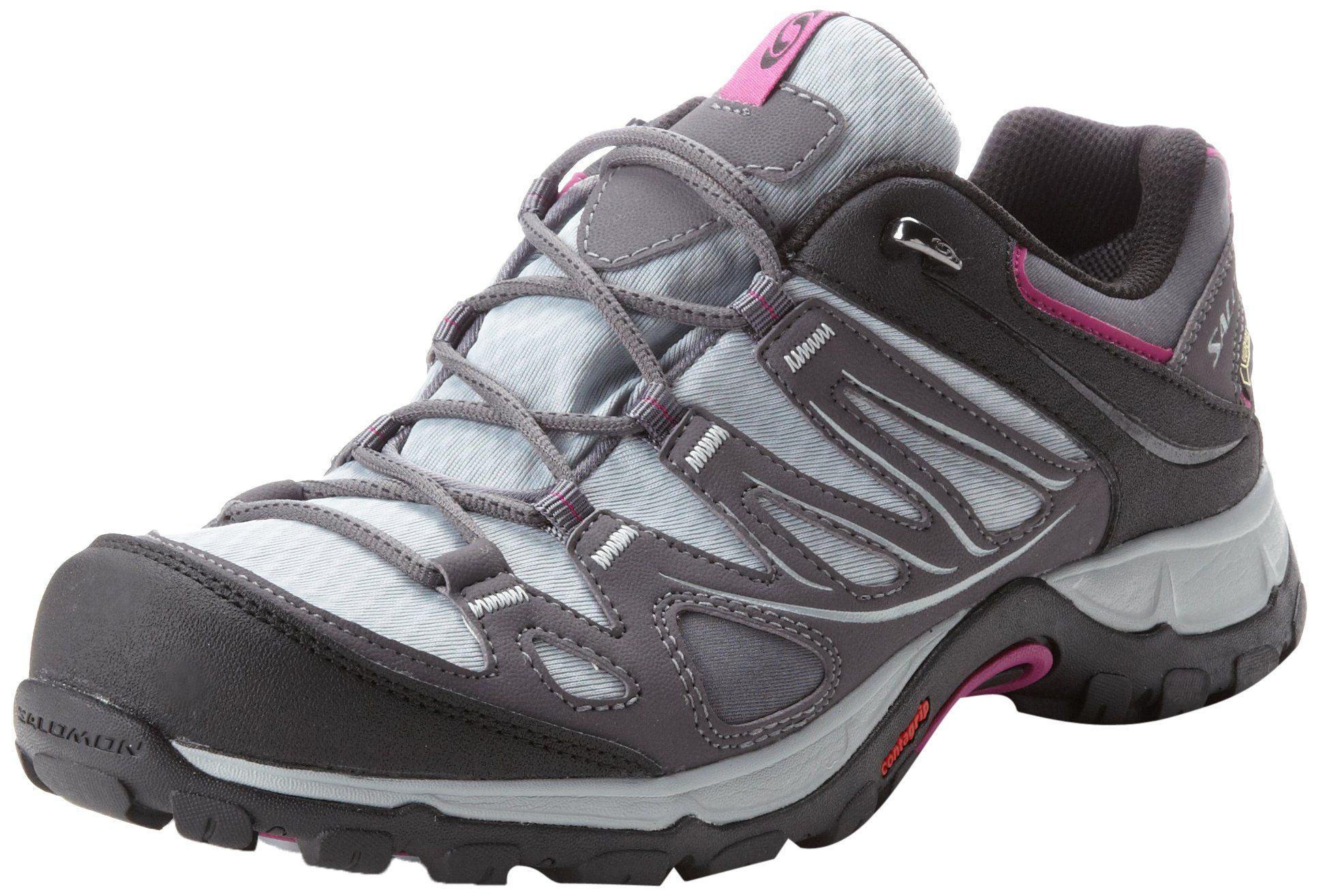 Salomon Ladies Walking Shoes Boots Ellipse Gtx Asphalt Cloud Ladies
