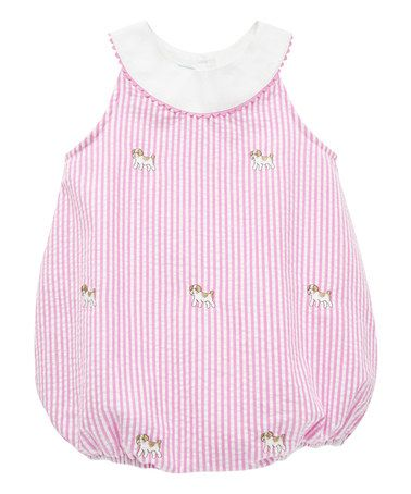 Love this Pink Dog Embroidery Bubble Romper - Infant on #zulily! #zulilyfinds