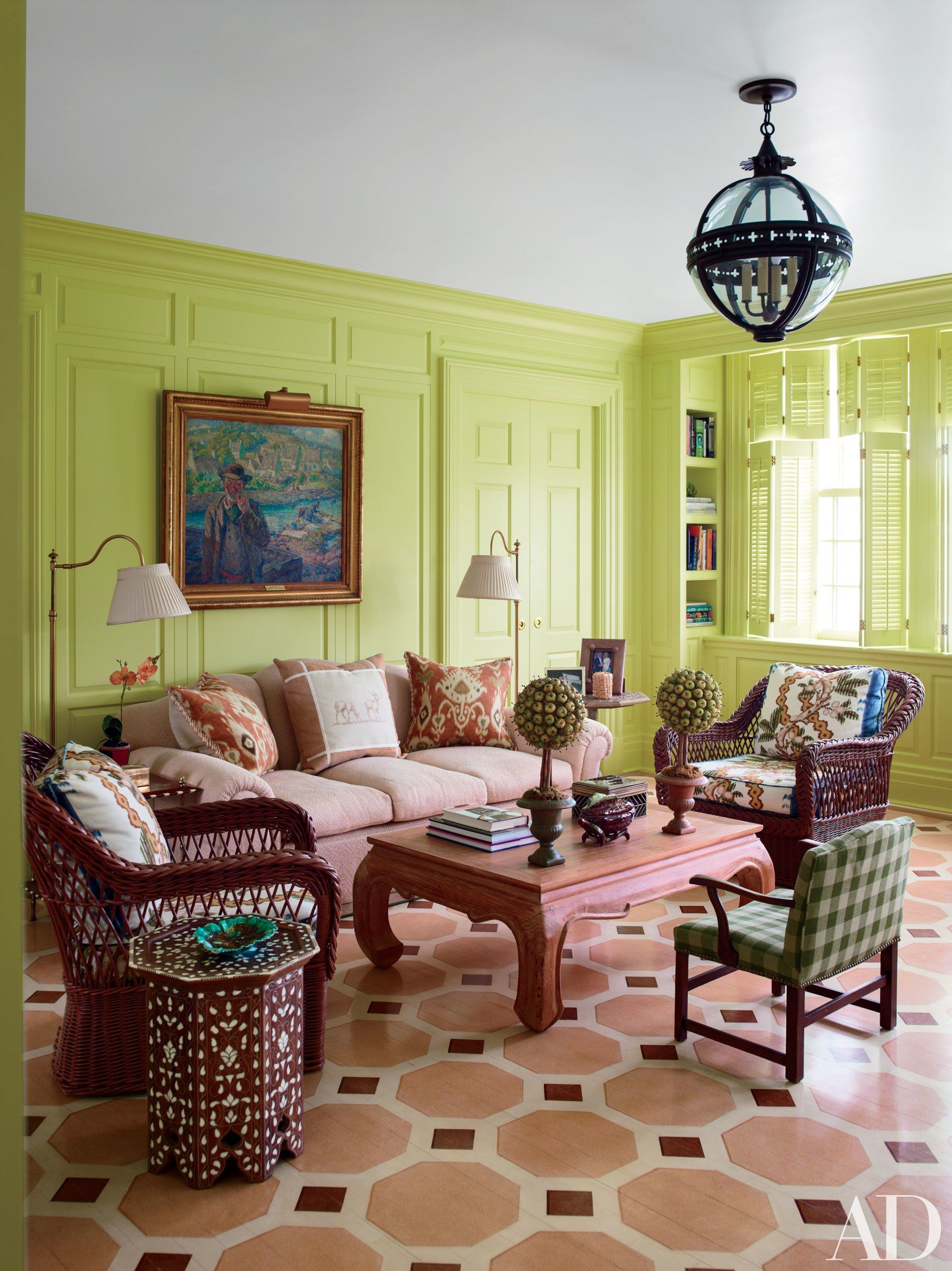24 Elegant Art-Centric Rooms from the AD Archives Photos | Architectural Digest