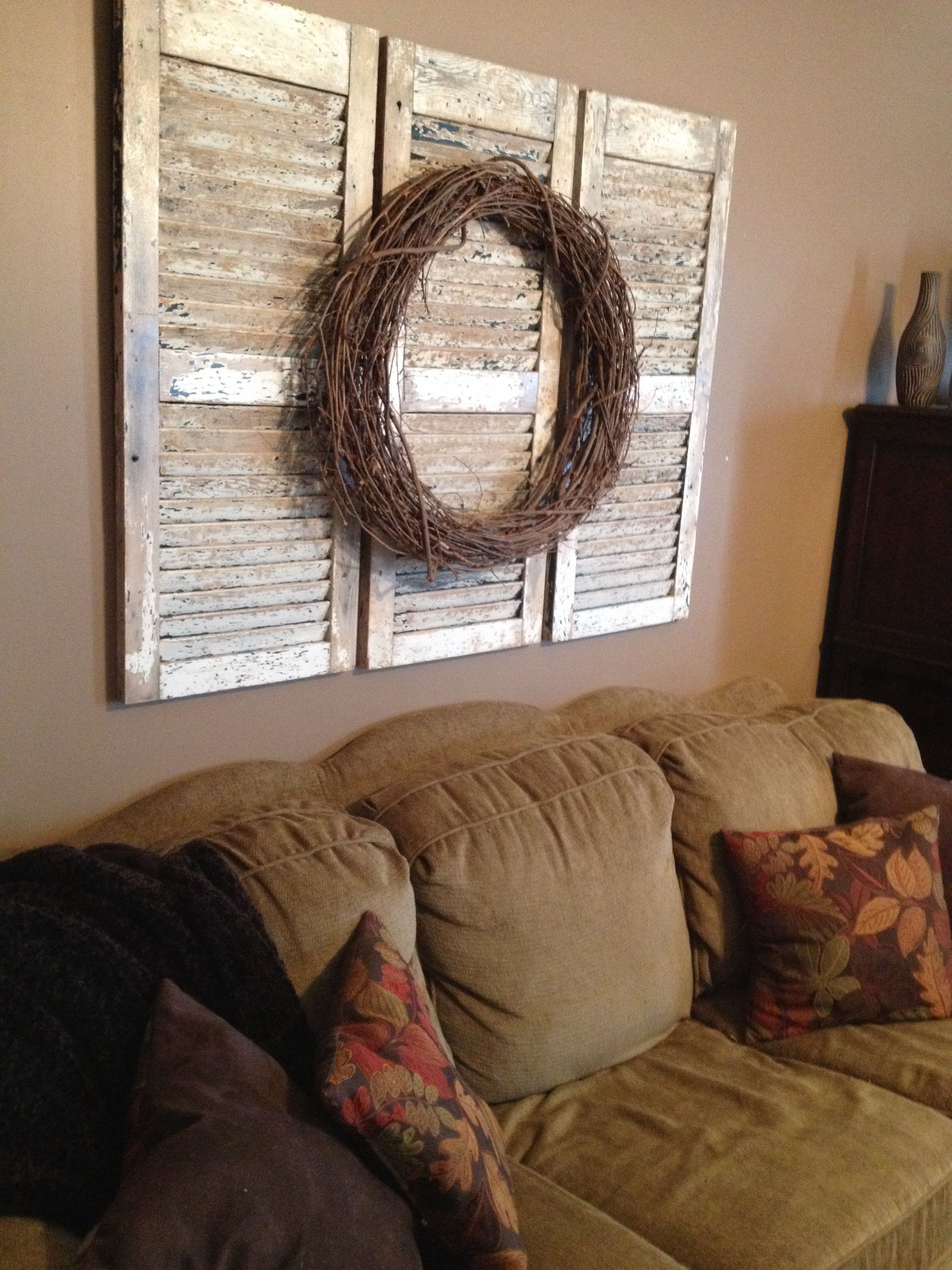 Decorating With Old Shutters.Repurposed Wooden Shutters If You Have Not Guessed By Now
