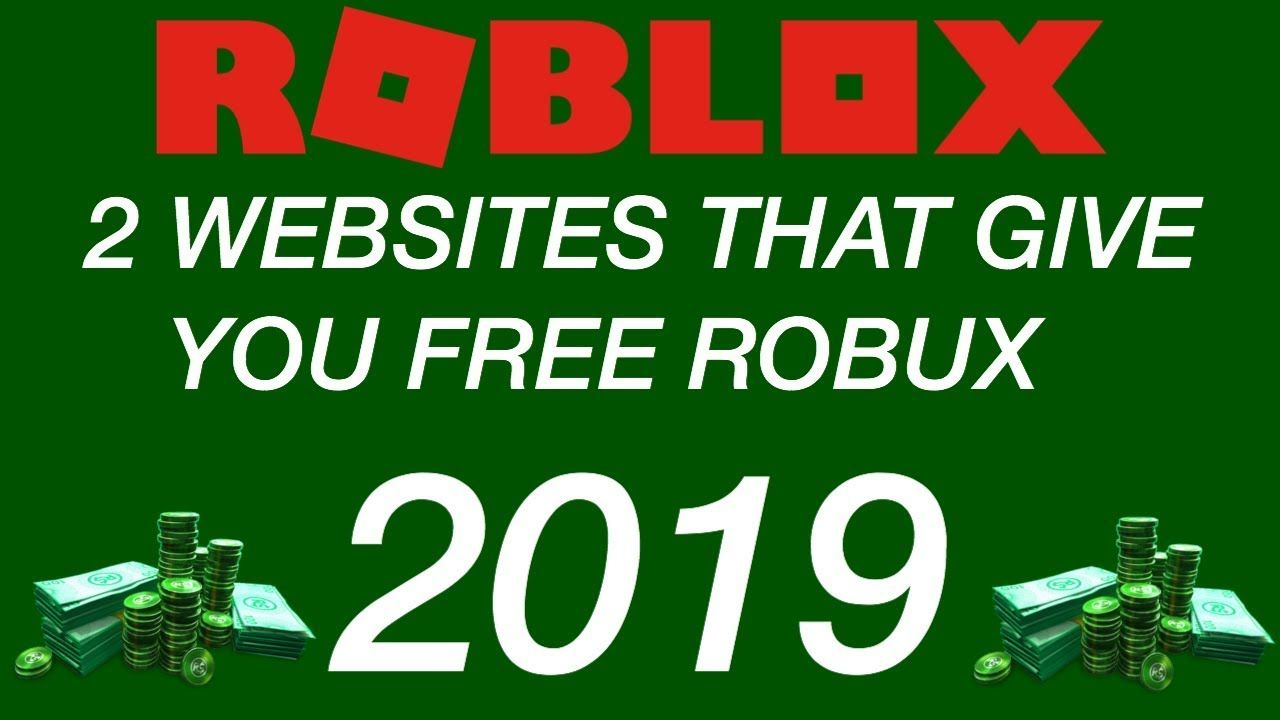 2019 2 Websites That Give You Free Robux No Human Verification Youtube Helpful Hints How To Get
