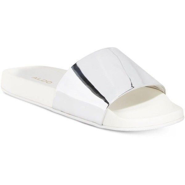 aa91be6aeab Aldo Maurizia Pool Slide Sandals ( 35) ❤ liked on Polyvore featuring shoes