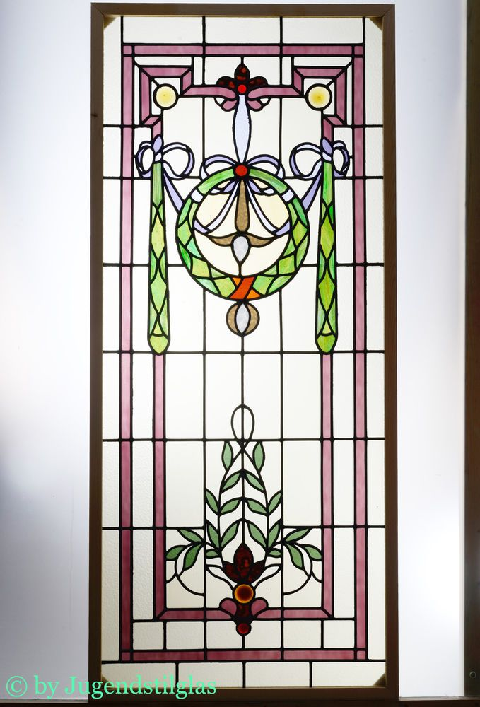 Bleiverglasung fenster stained glass jugendstil for 1900 stained glass window