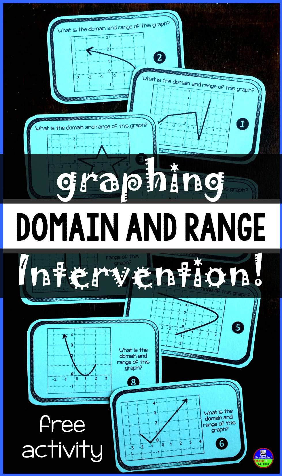 Domain and Range Intervention! | Algebra Teaching | Pinterest | Free ...