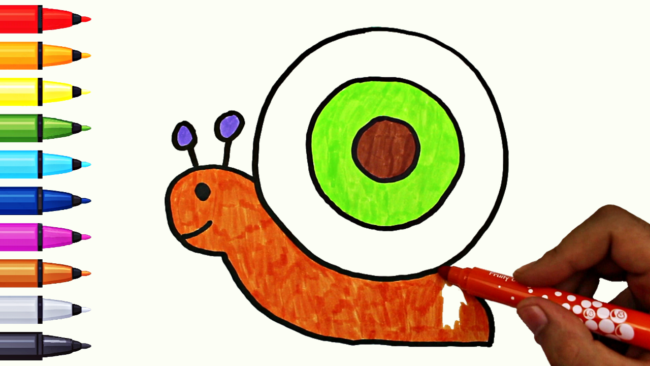 Coloring Snail for Kids - Snail Coloring Page Book | Coloring ...