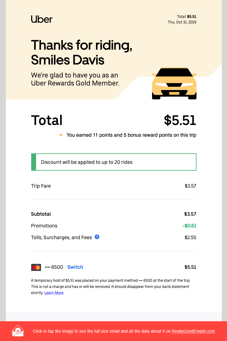 Business Your Thursday Evening Trip With Uber Email Template Design Email Design Email Templates