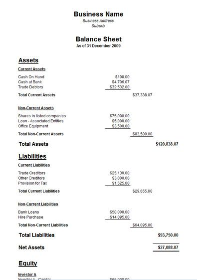 A Balance sheet is one of three statements that an accountant uses - balance sheet template word