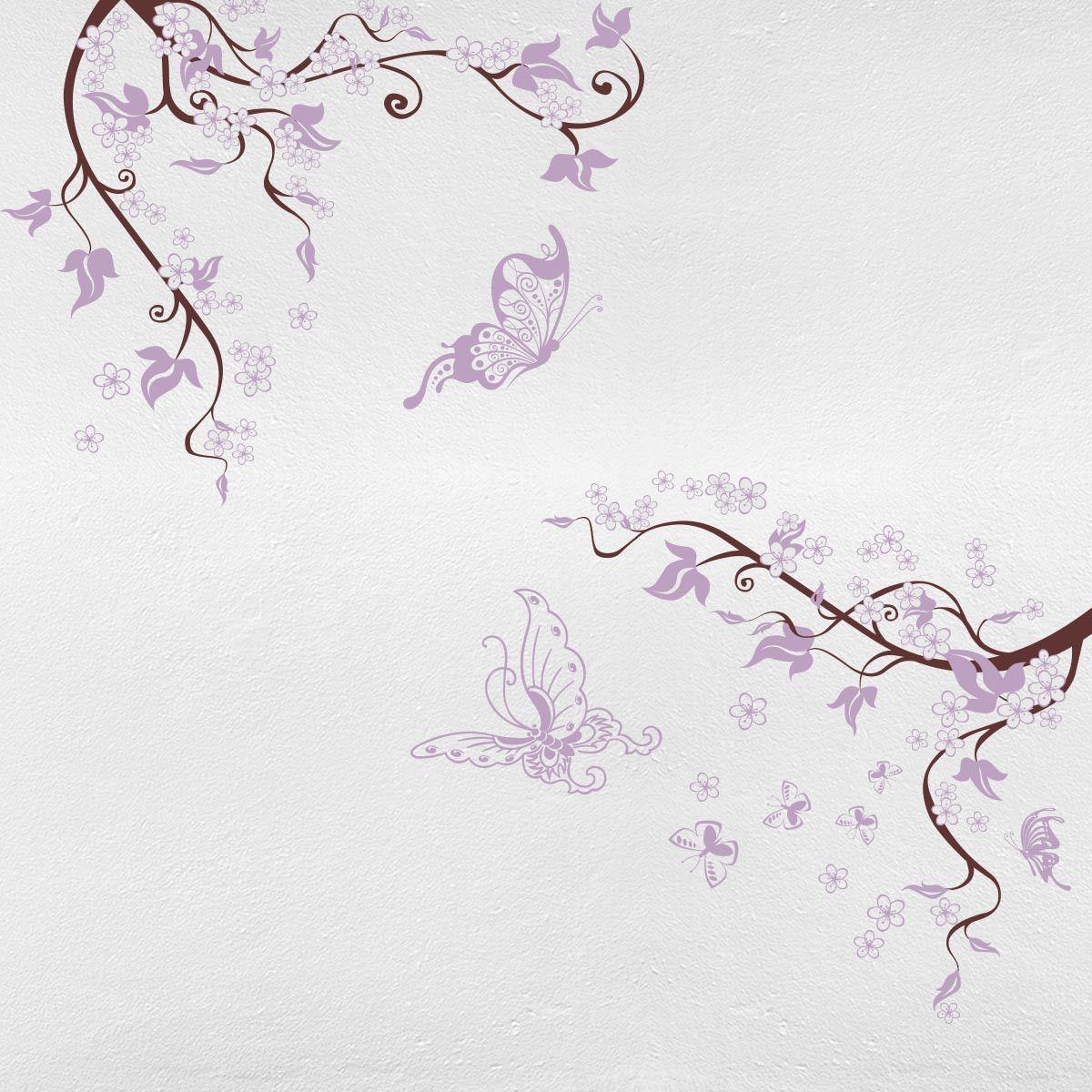 Adesivo De Parede Para Quarto Do Beb Arabesco E Flores Papel  ~ Paredes De Gesso Para Quarto E Quarto De Bebe Floresta