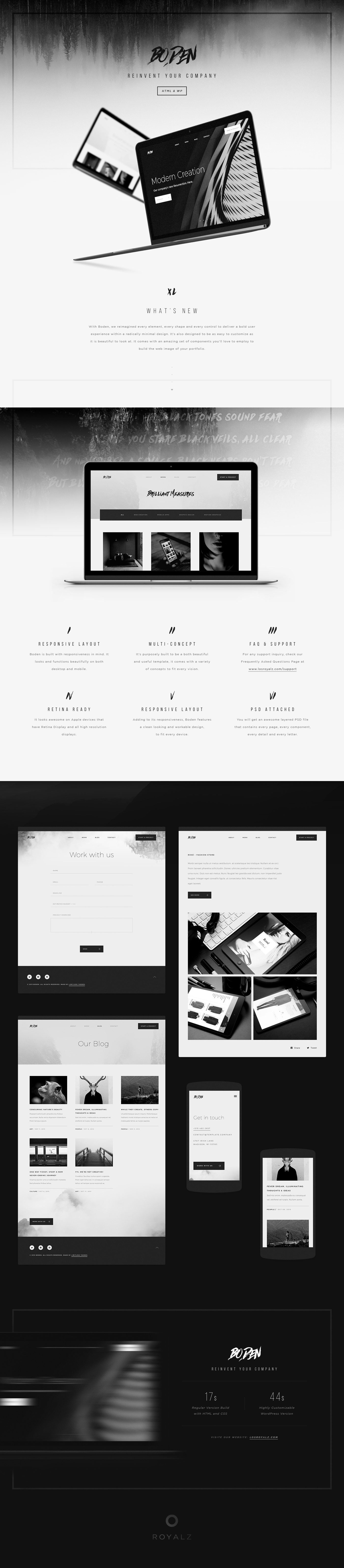 Boden - Creative Portfolio Template on Behance | cool | Pinterest