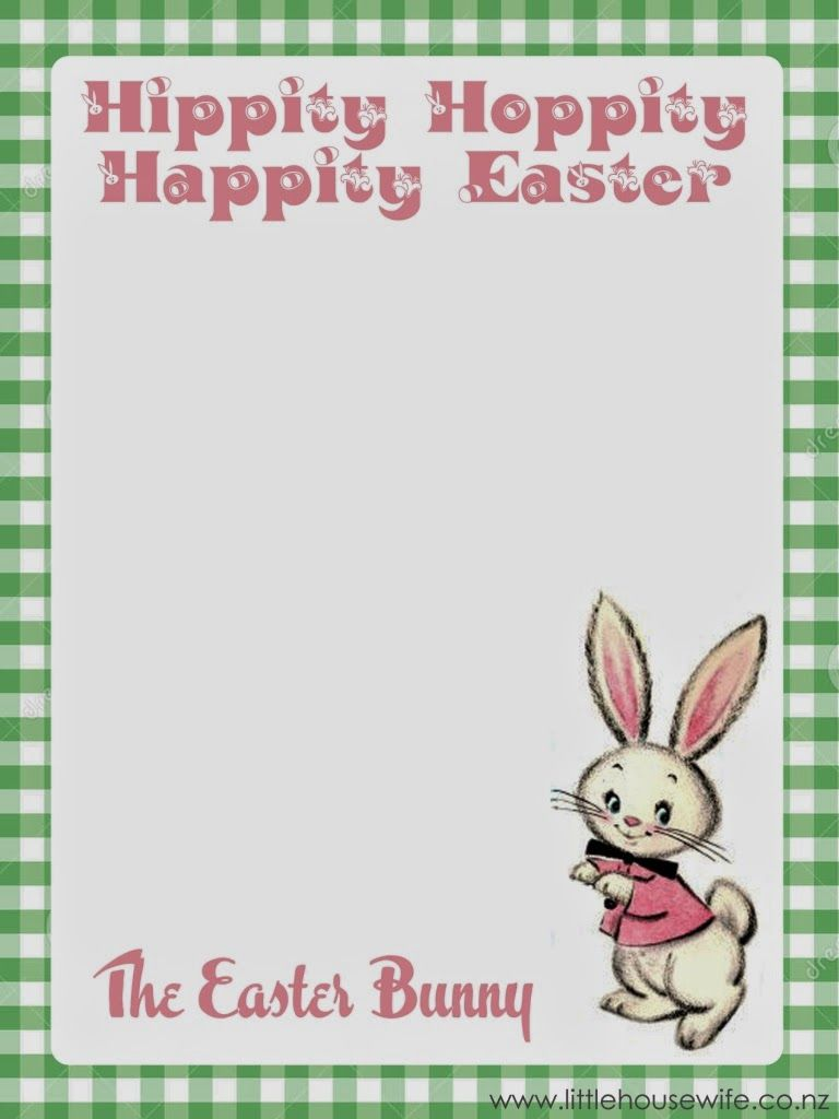 earlier this week i made a little letter from the easter bunny to pop in my girls easter baskets