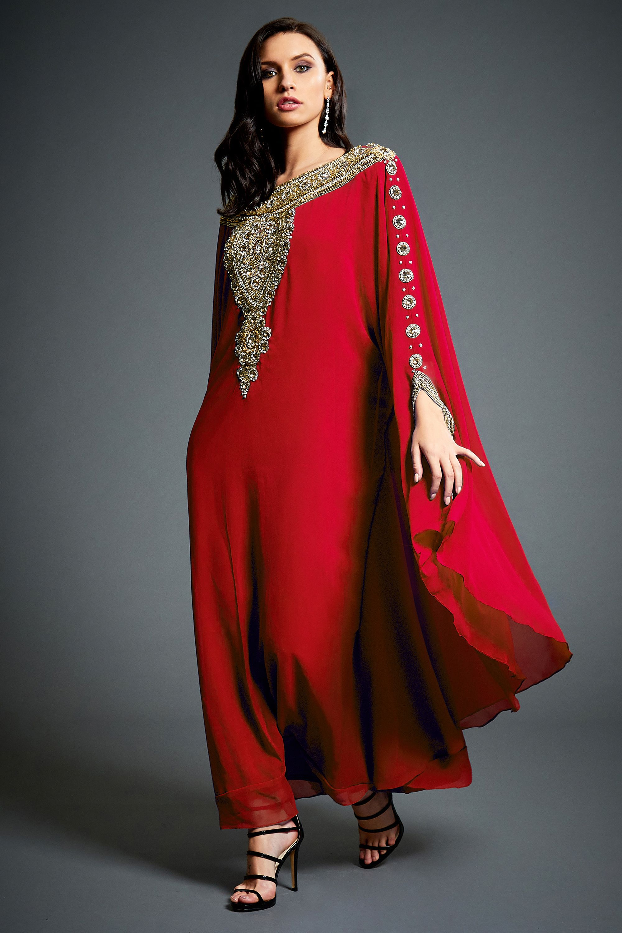 87e573bb7427 Layla Abaya Caftan, Gold Embellished Kaftan Dress, Kaftan Maxi Dress, Dubai  Kaftans, Red Gold Wedding Evening Gown, Plus Size, S-4XL