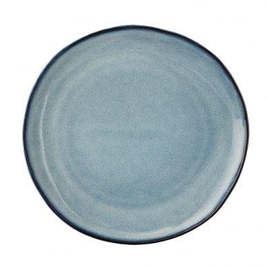 Steingut Porzellan bloomingville porzellan teller sandrine blue home table