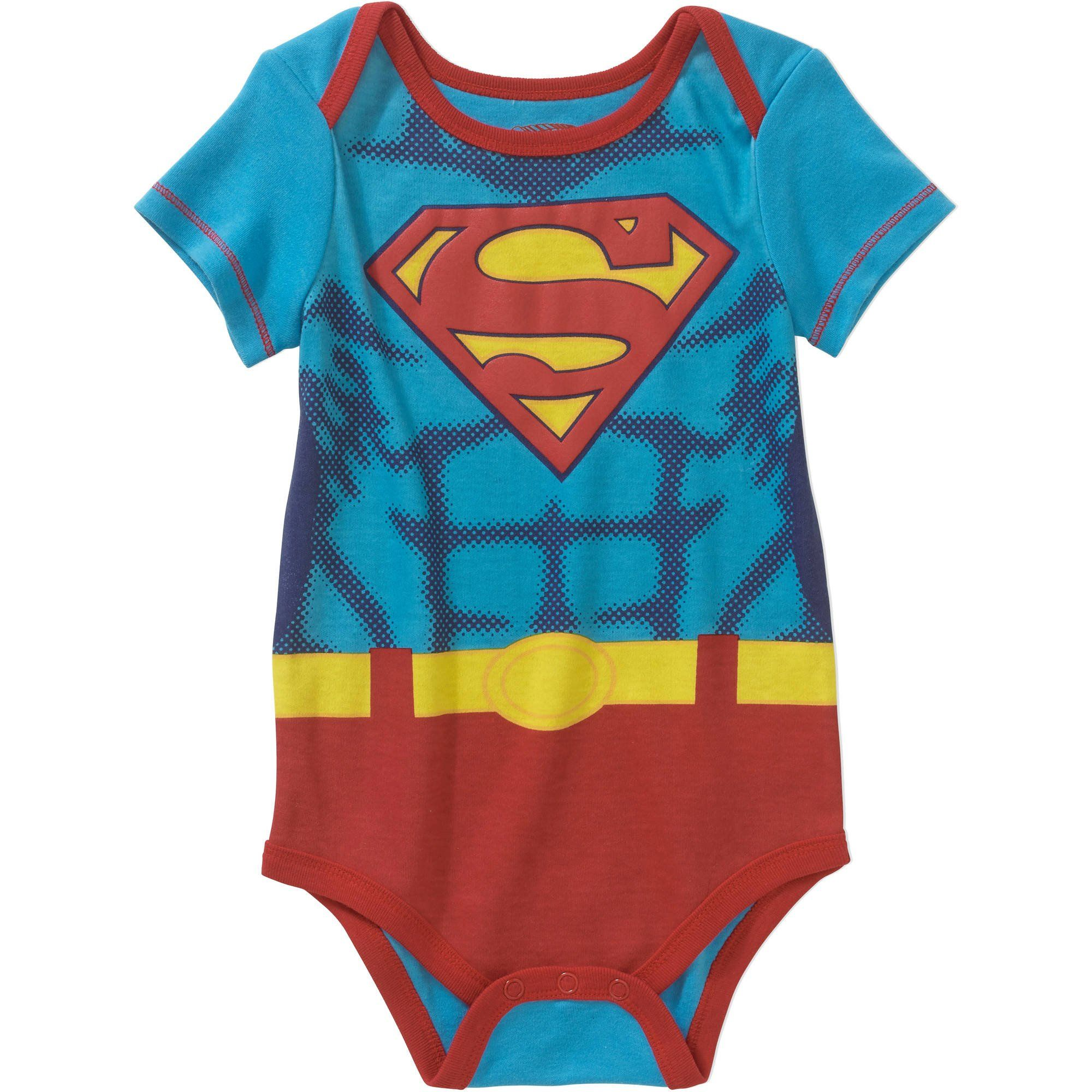 DC ics Superman Supergirl Logo Baby Boys & Girls Bodysuit Dress