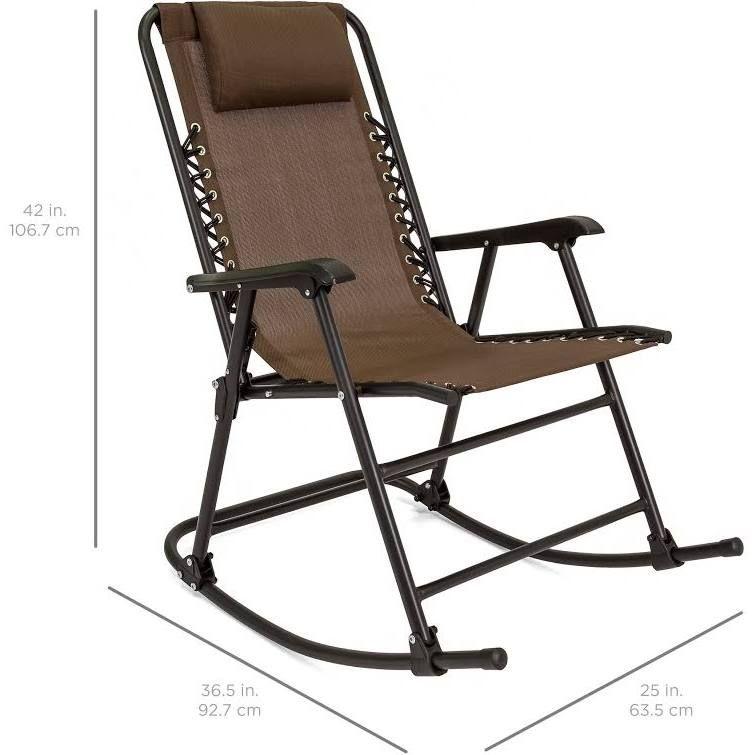 Best choice products foldable zero gravity rocking patio