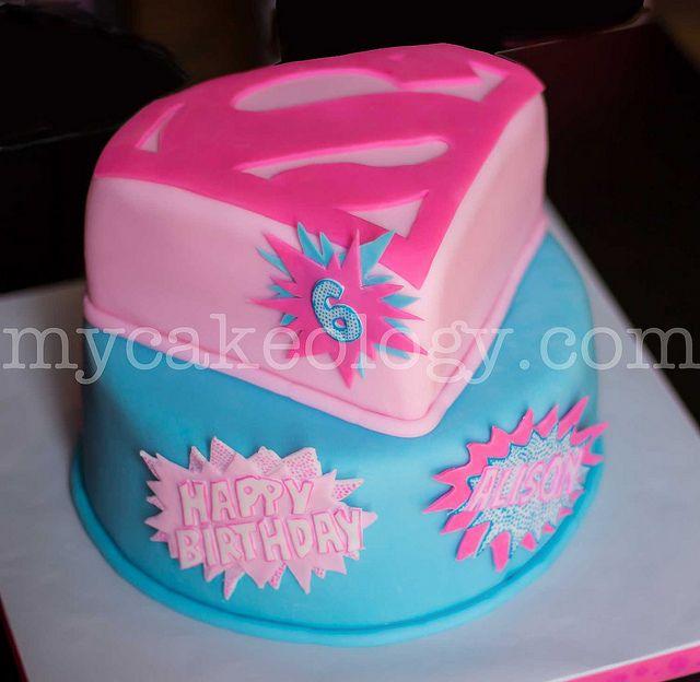 Pink Supergirl Cake Supergirl Cake and Birthdays