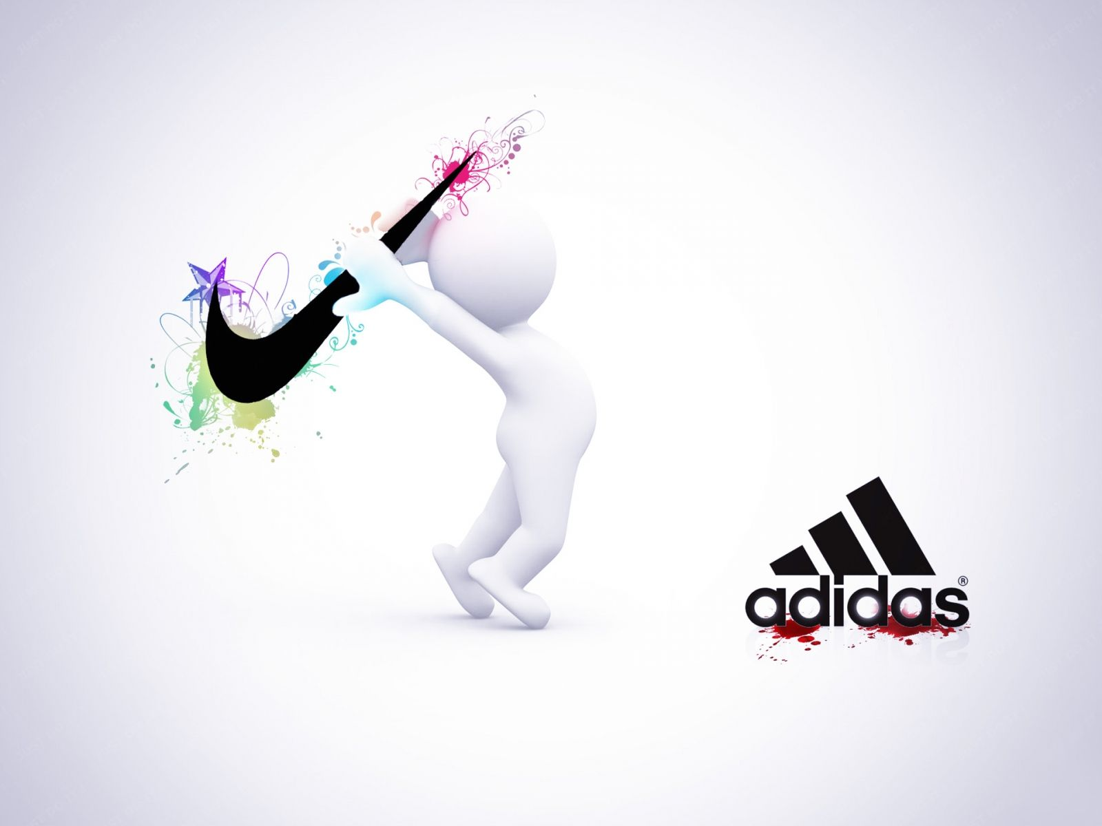 Wallpaper Nike Vs Adidas For 1600 X 1200 HD Wide Background Pictures