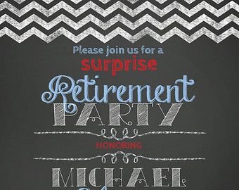 surprise retirement party invitation police retirement party