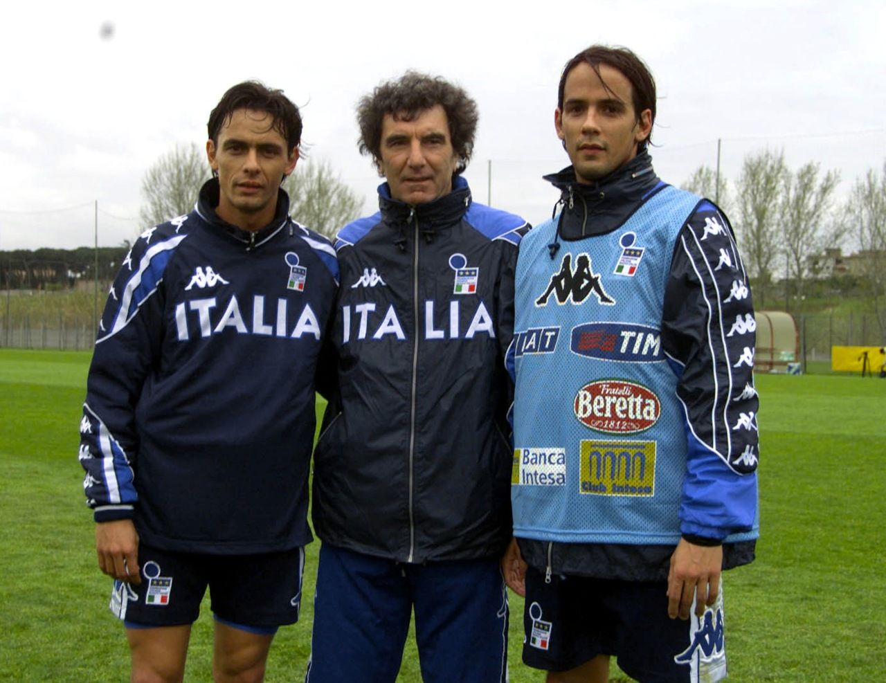 Pippo Inzaghi Dino Zoff et Simone Inzaghi Italie