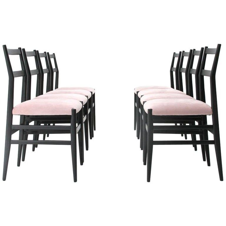 Surprising Black And Pink Leggera Chairs By Gio Ponti For Cassina Dailytribune Chair Design For Home Dailytribuneorg
