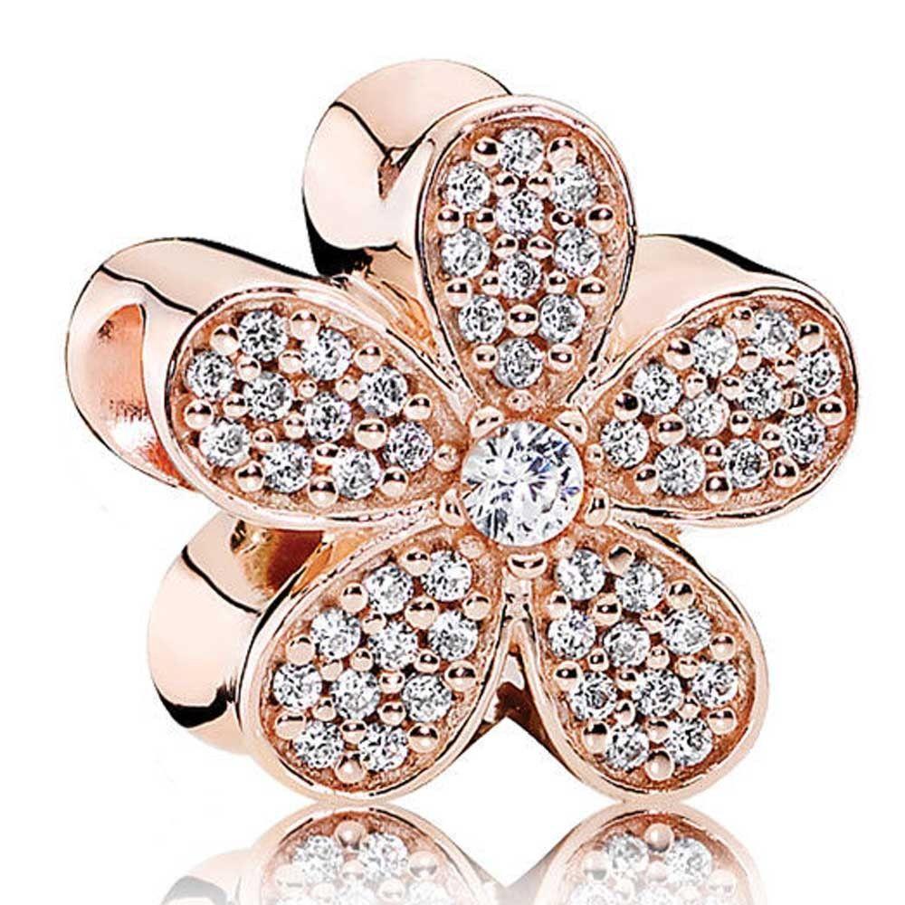 Authentic Pandora Rose Gold Dazzling Daisy Charm 781480cz On Sale Pandora Bracelet Designs Pandora Charms Rose Gold Pandora Rose Gold
