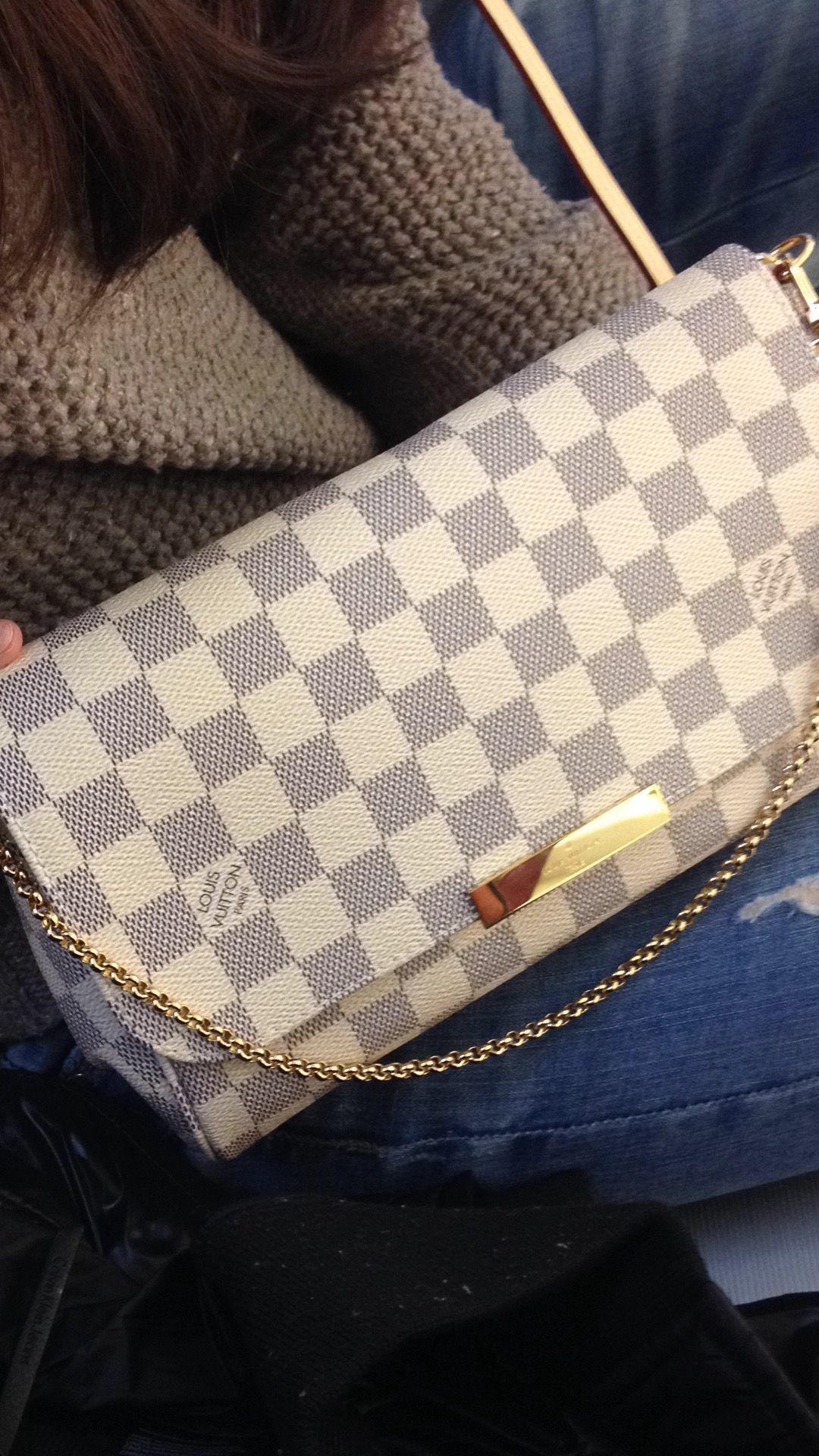 a135240c1b5b Louis Vuitton Favorite MM damier azur LV