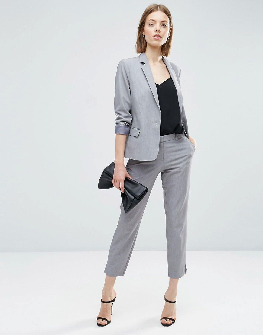 Image 1 of ASOS Tailored Fitted Suit in Grey