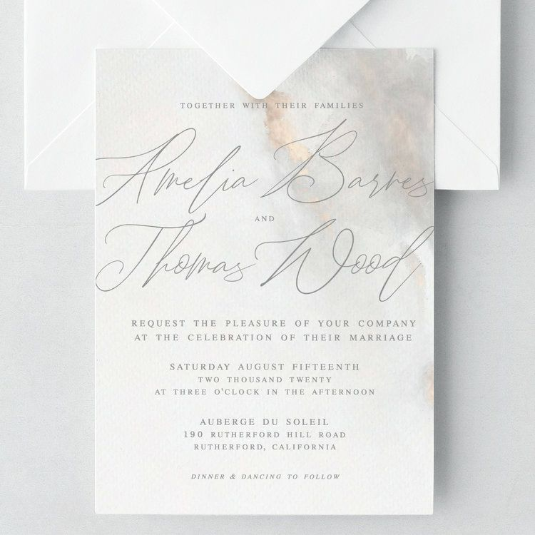 Together With Their Families Amelia Barnes And Thomas Wood Request The Ple Wedding Invitation Wording Examples Wedding Invitation Wording Wedding Invitations