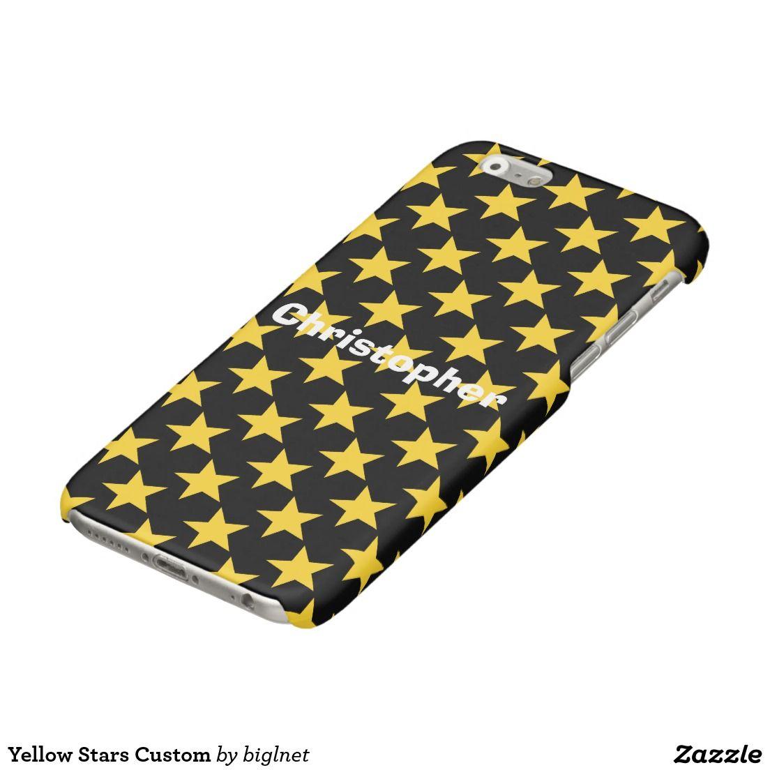 Yellow Stars Custom Glossy iPhone 6 Case