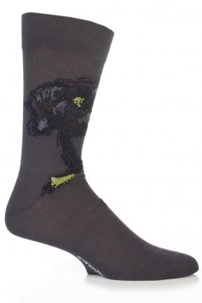 Urban Knit Mercerised Cotton Painted Flower Socks  £17.00