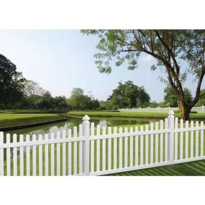 Veranda Kettle Scallop 4 Ft H X 8 Ft W White Vinyl Un Assembled Fence Panel 73011945 The Home Depot White Vinyl Fence Fence Design Front Yard Landscaping