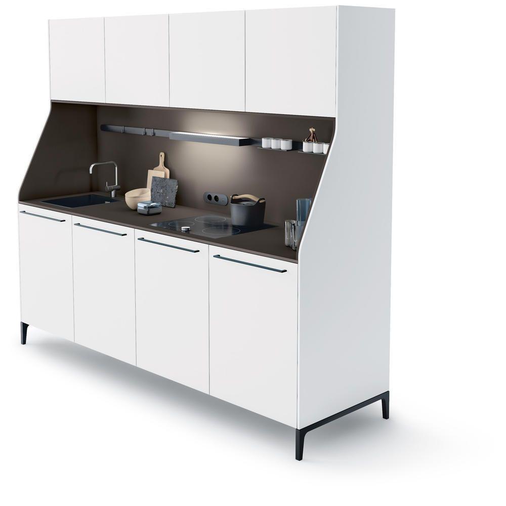 Weisses kuchenbuffet quotsiematic 29quot von siematic teilchen for Küchenbuffet modern