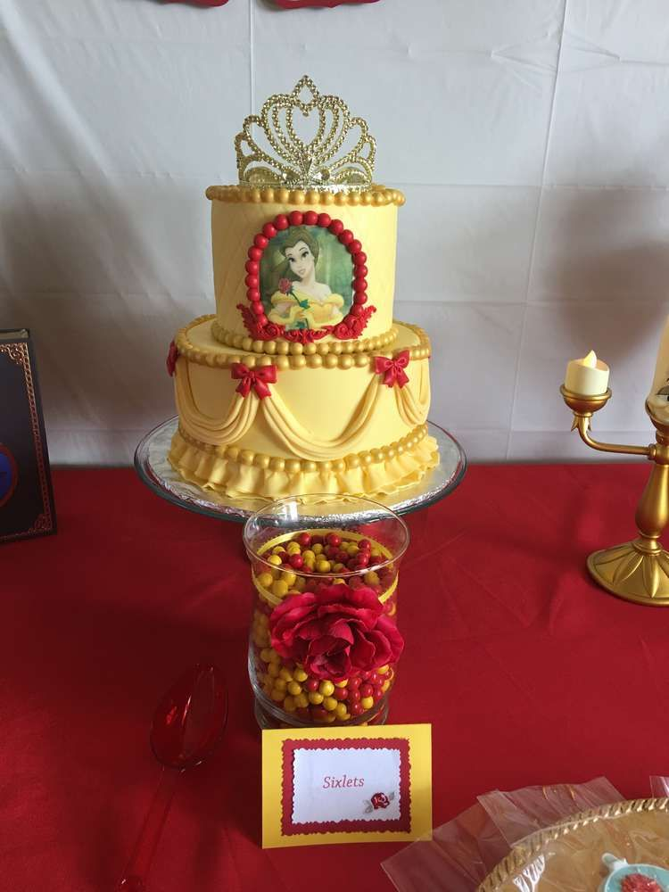 Belle Beauty And The Beast Birthday Party Ideas Beauty And The
