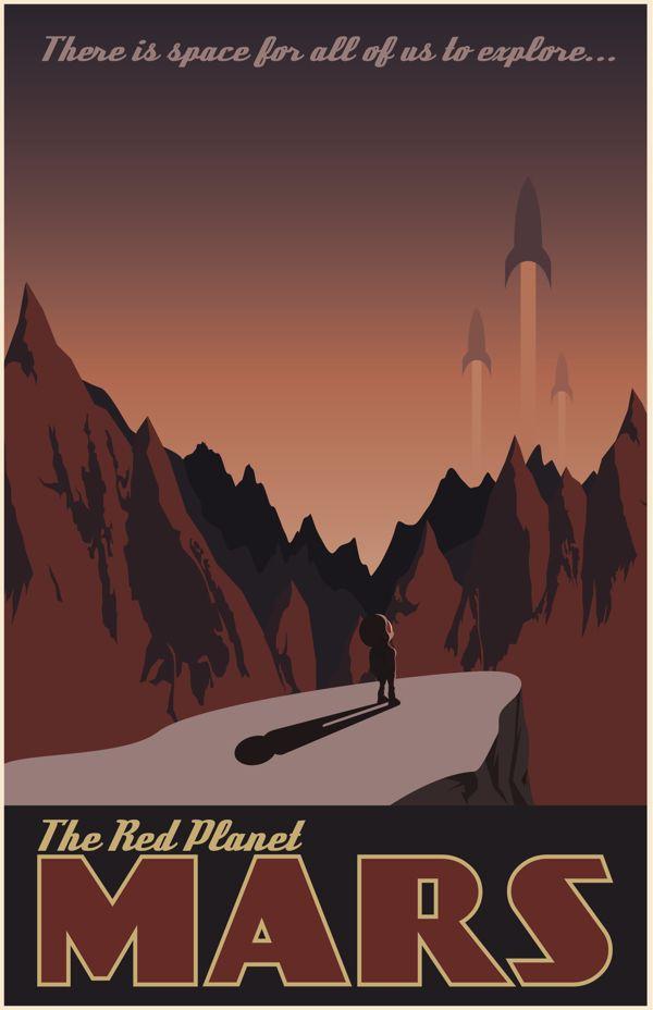 Vintage Travel Poster by Joey Gessner, via Behance