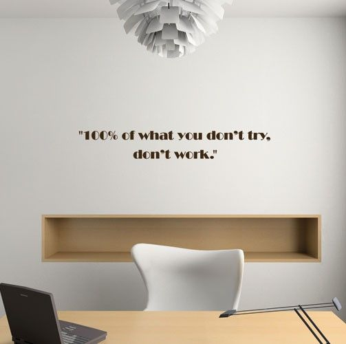 Communicate Your Vision Through The Walls And Add A Contemporary Design To  Your Space With Luka Wall Typography Decals. This Wall Decal Quote: 100% Of  What ...