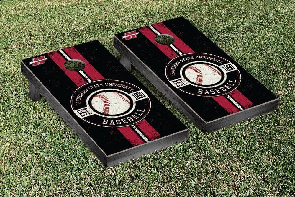 Henderson State Reddies Classic Baseball Logo Cornhole Set