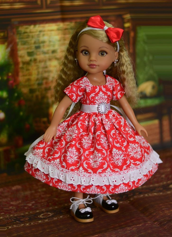 Dress, Outfit for American Girl Wellie Wishers & Hearts for Hearts #LuminariaDesigns