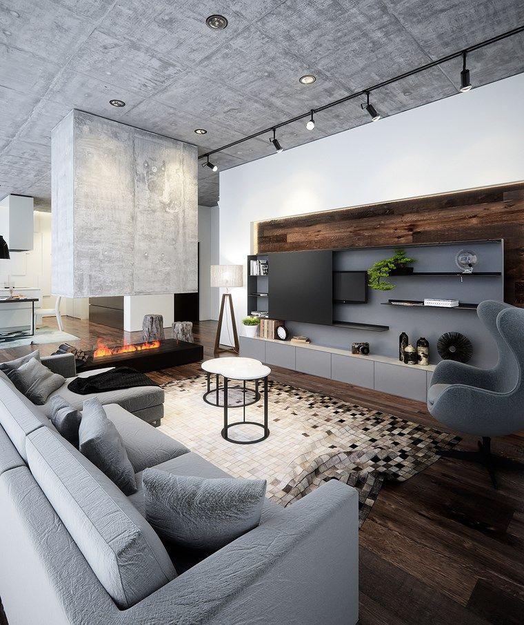 Decoracion de pisos 37 dise os de salones impresionantes - Piso pequeno moderno ...