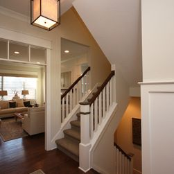 Craftsman Split Level Staircase Staircase Design Ideas, Pictures .