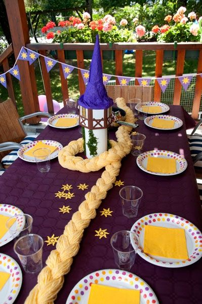 Tangled Rapunzel birthday party.... Not that I have a girl or that the boys want a Tangled party.... I'm thinking Natalee