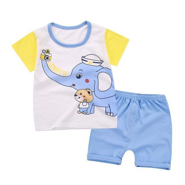 251ea885e6f8 Cartoon Baby Boy Clothing Set Summer 2018 New Style Infant Clothes Baby  Girls Clothing Cotton Short Sleeve Baby Boy Clothes  infantsclothes